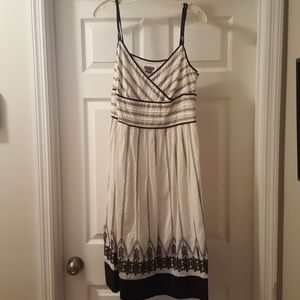 Ann Taylor sundress off-white and brown